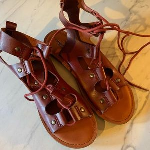 AEO | Cherry Brown Gladiator Sandals | 8